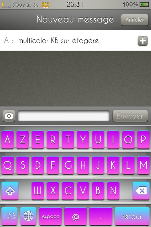 MultiColor KB sur étagère.
