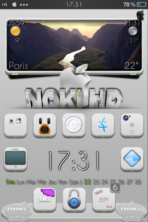 Noki weather b&w.Widget