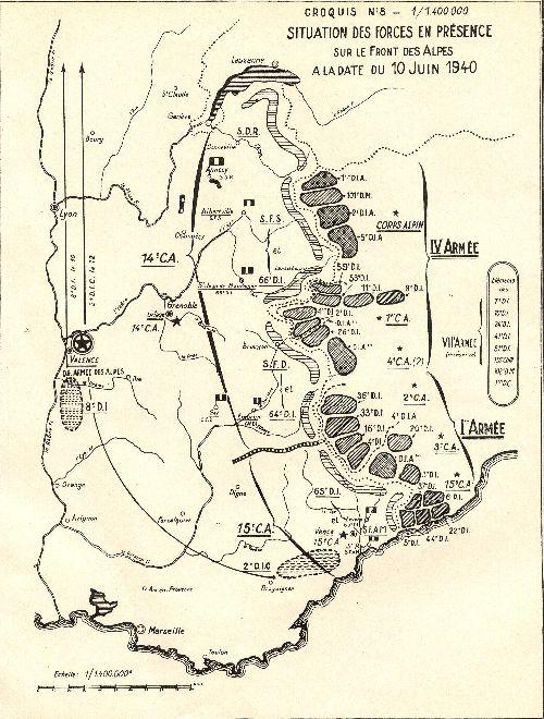 forces en  présence au 10 juin