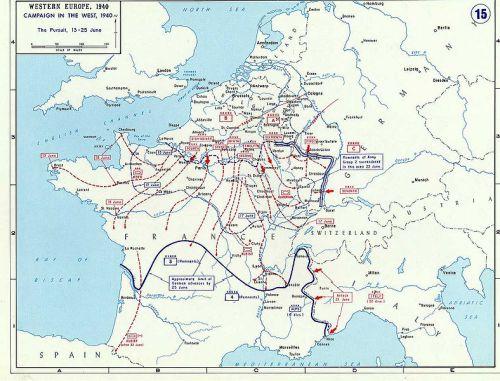 zone d'occupation italienne et allemande