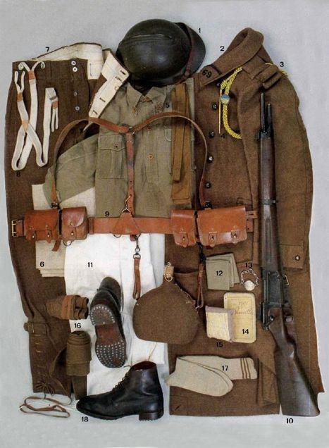 Les effets portés par le soldat français en 1940