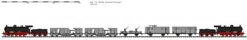plan d'un train 120mm