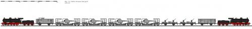 plan d'un train 152mm