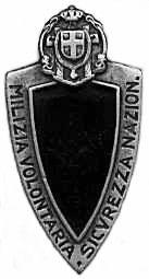 bataillons de chemises noire (CCNN) ou La Milizia Volontaria Sicurezza Nazionale