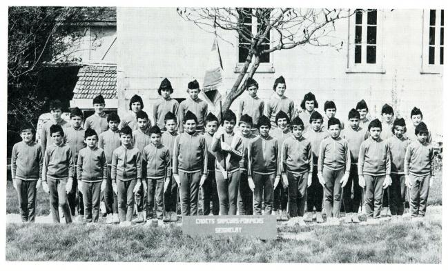 Jeunes sapeurs pompiers en 1973