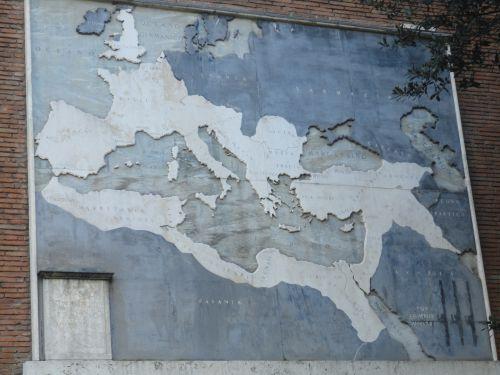 Parti de Rome, voici ensuite l'étendue de l'empire romain