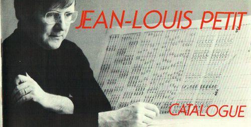 catalogue des oeuvres de Jean-Louis Petit