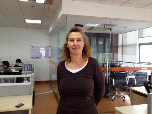 Isa at office