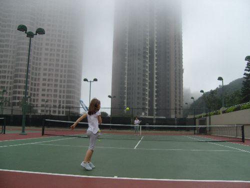 Partie de Tennis à notre résdence