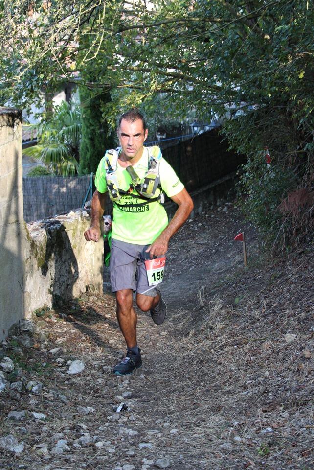 Elie sur le 36km de Chauvigny (11e en 3h48, 1er M2)