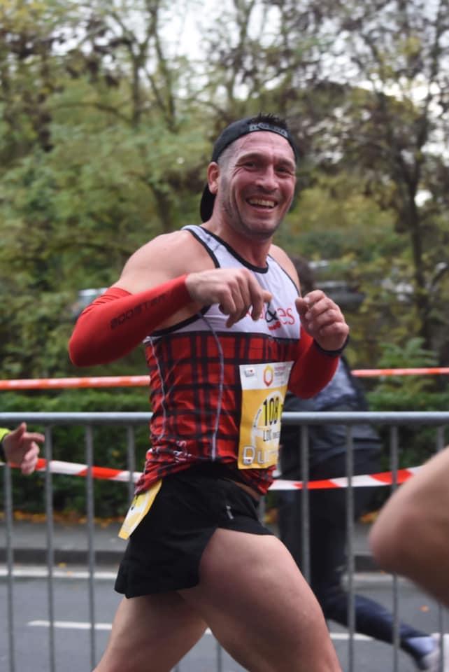 Loïc (1h45) sur le Marathon en relais avec Jenny