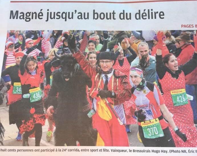 Bravo aux représentants de Niort Endurance 79 sur la Corrida de Magné.