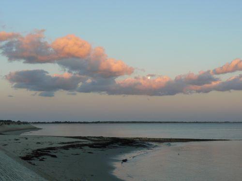 La lune sur la mer - Île de Ré