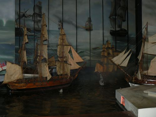 Reconstitution d'une bataille navale