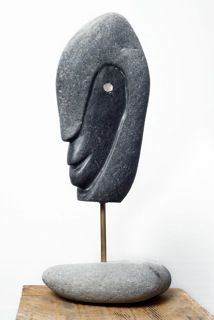 Basalte noir (Galet de rivière Tahiti)