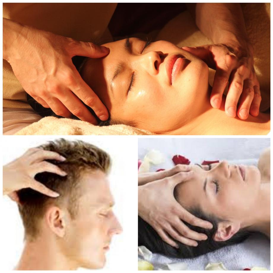 Atelier Massage du visage et du crâne.