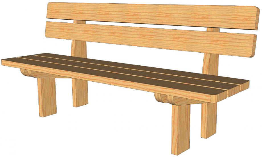 Plans pour fabrication d'un banc de jardin en bois massif