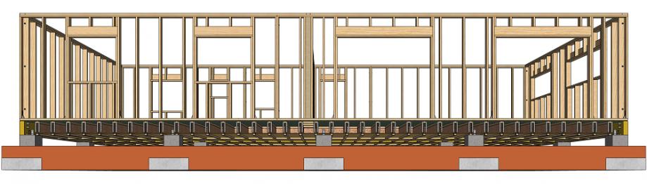 Structure d'une dalle en bois pour maison ossature bois
