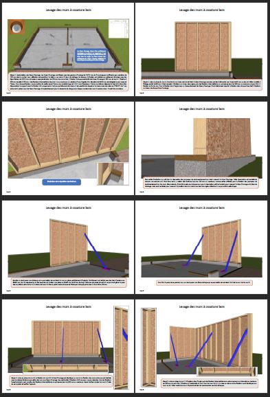 Illustrations construction double garage ossature bois 1