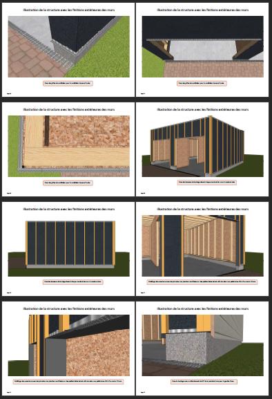Illustrations construction double garage ossature bois 2