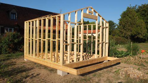 autoconstruction abri de jardin ou chalet en ossature bois ... - Construire Son Garage En Bois Soi Meme