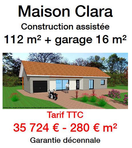 Autoconstruction maison en ossature bois - Prix construction garage au m2 ...