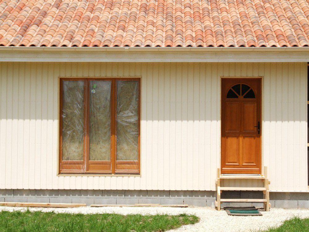 pose du bardage vertical et horizontal autoconstruction maison en ossature bois. Black Bedroom Furniture Sets. Home Design Ideas
