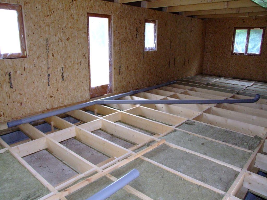 Pose du r seau des eaux us es dans vide sanitaire autoconstruction maison en ossature bois - Plan evacuation eaux usees maison ...