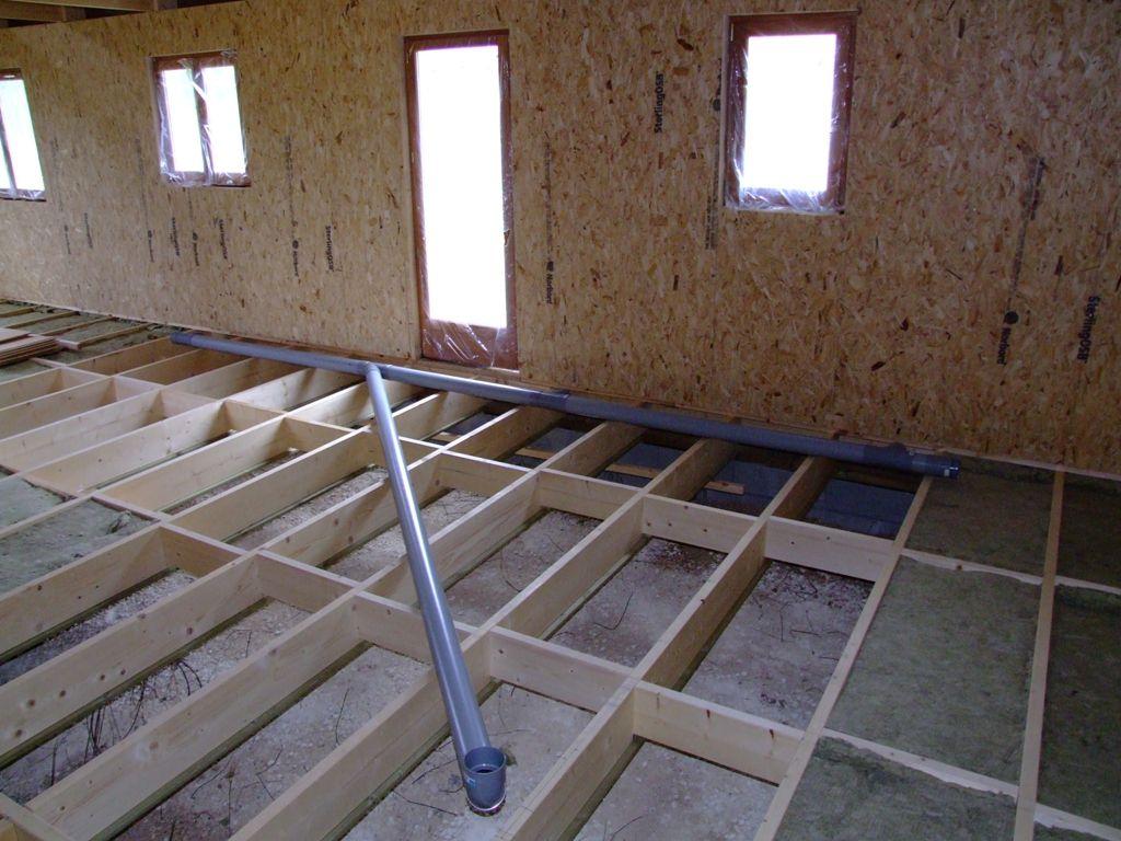 Pose du r seau des eaux us es dans vide sanitaire autoconstruction maison en ossature bois - Schema evacuation eaux usees maison ...