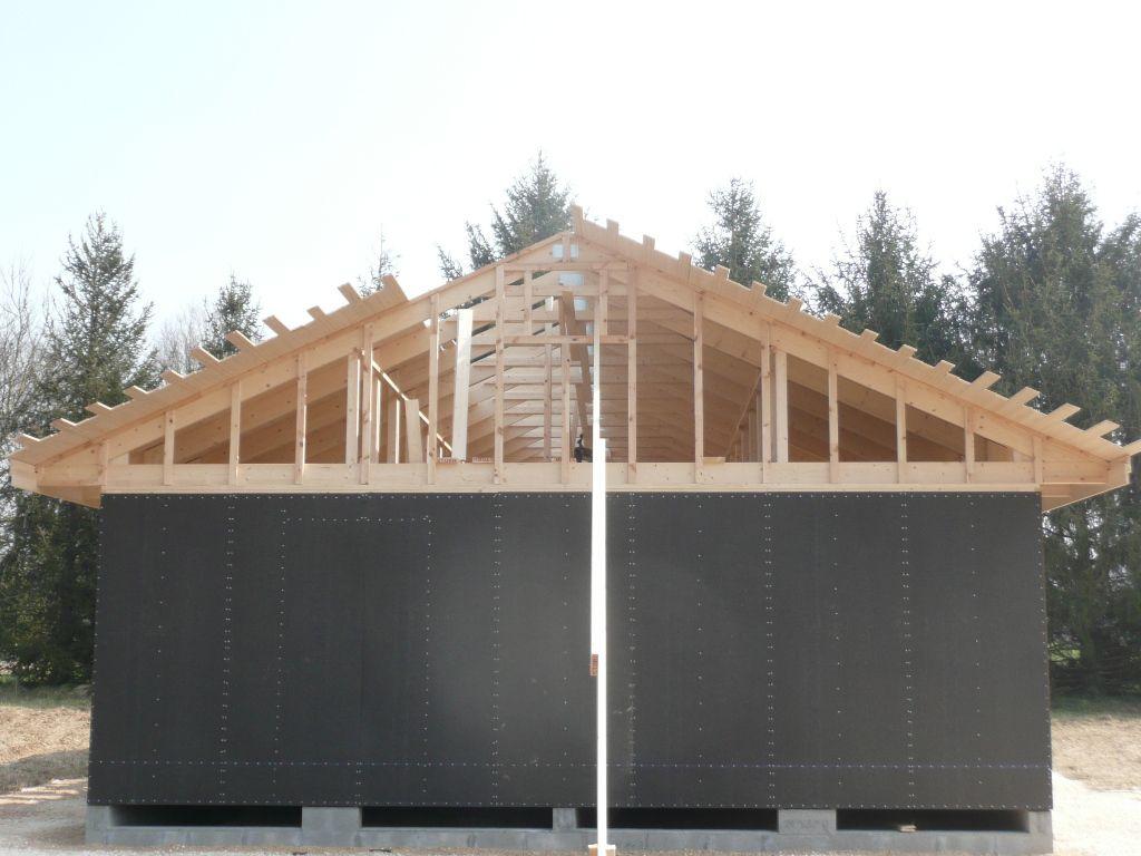 Réalisation platelage et pose écran de sous toiture - Autoconstruction maison ossature bois
