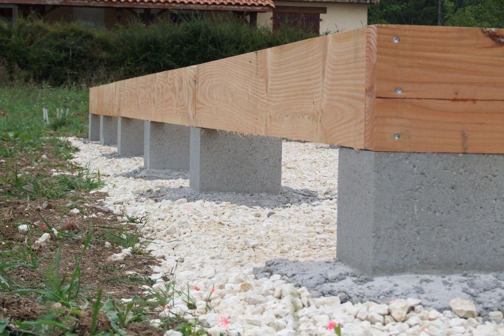 autoconstruction d 39 une terrasse en bois de douglas et m l ze autoconstruction maison en. Black Bedroom Furniture Sets. Home Design Ideas