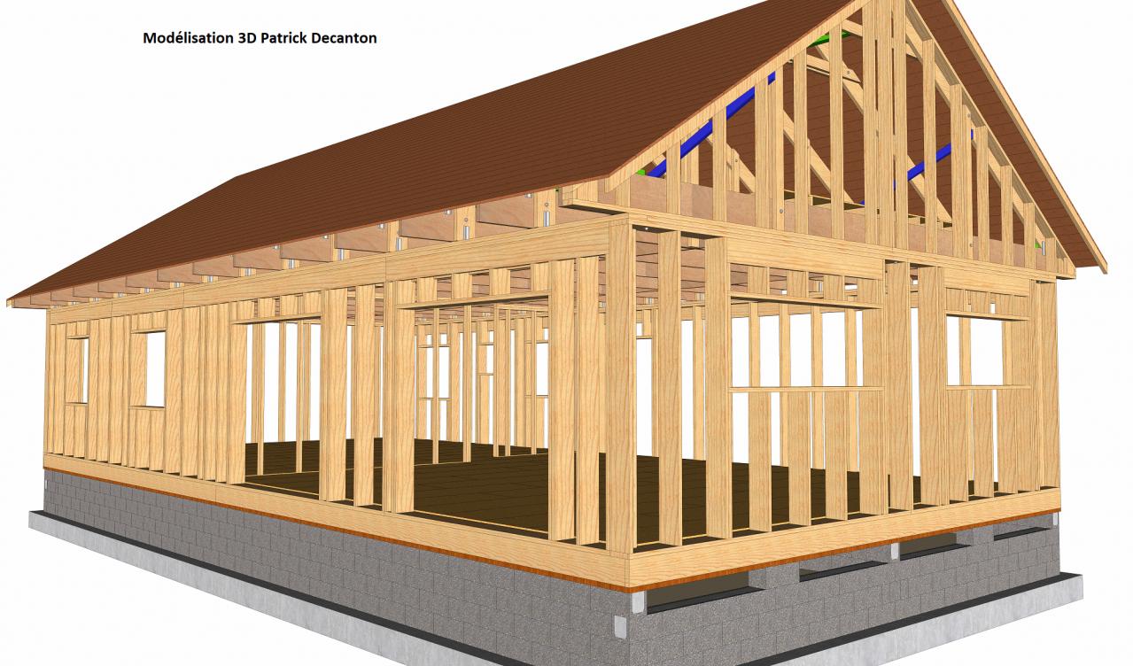 Mod lisation 3d du concept basikmob maison ossature bois for Modelisation maison 3d