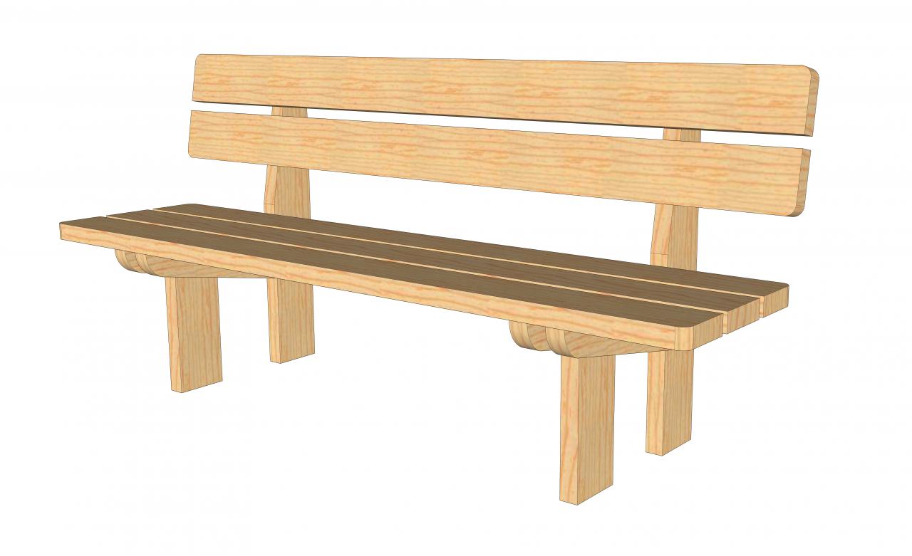 plans pour fabrication d 39 un banc en bois massif autoconstruction maison en ossature bois. Black Bedroom Furniture Sets. Home Design Ideas