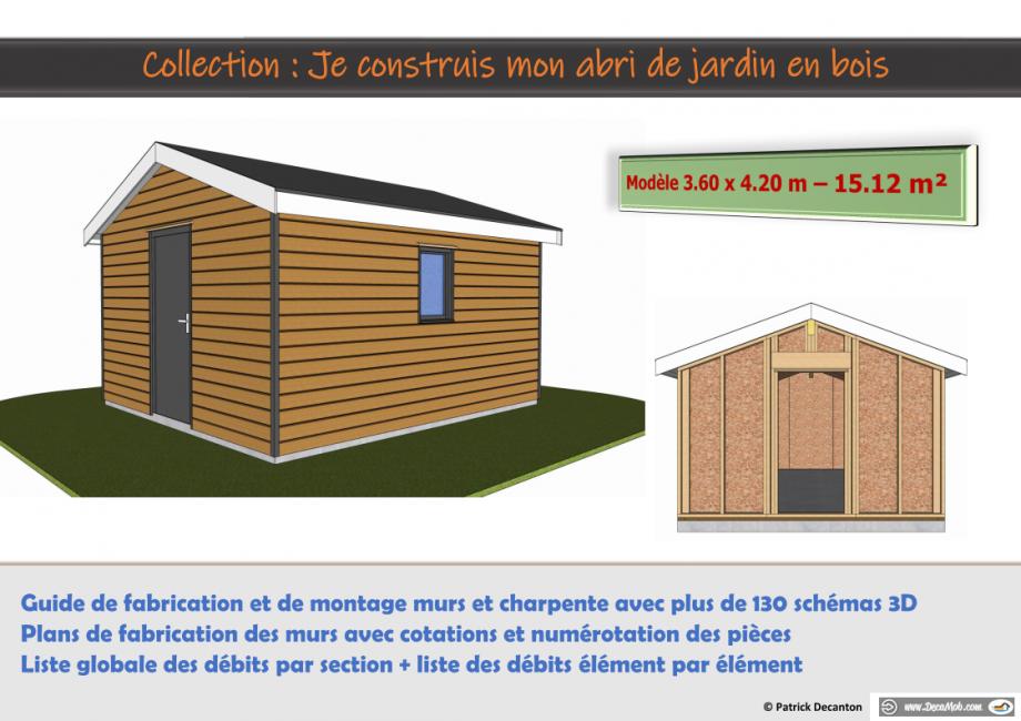 Guide autoconstruction abri de jardin ossature bois 15 m2
