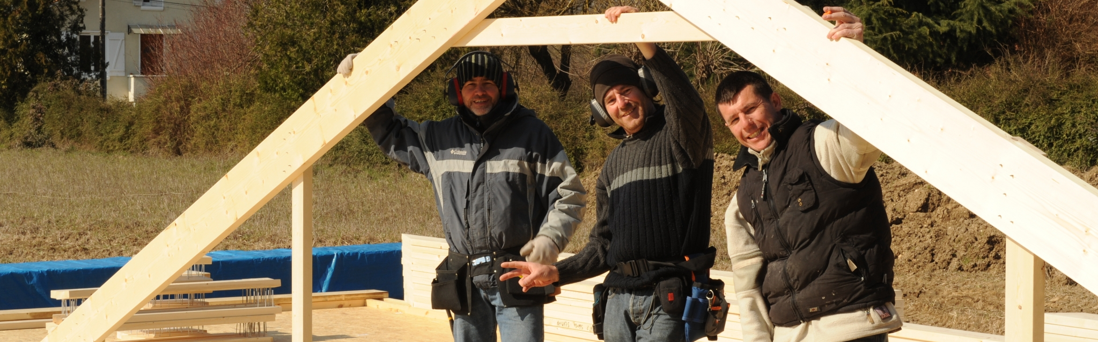 R alisation du terrassement et des fondations for Autoconstruction maison ossature bois