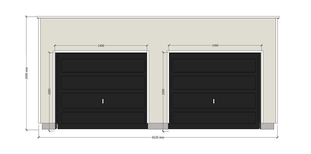 Double garage à ossature pour autoconstruction