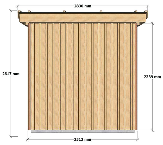 Dimensions abri de jardin à ossature bois 5 m2 pour autoconstructeurs 1