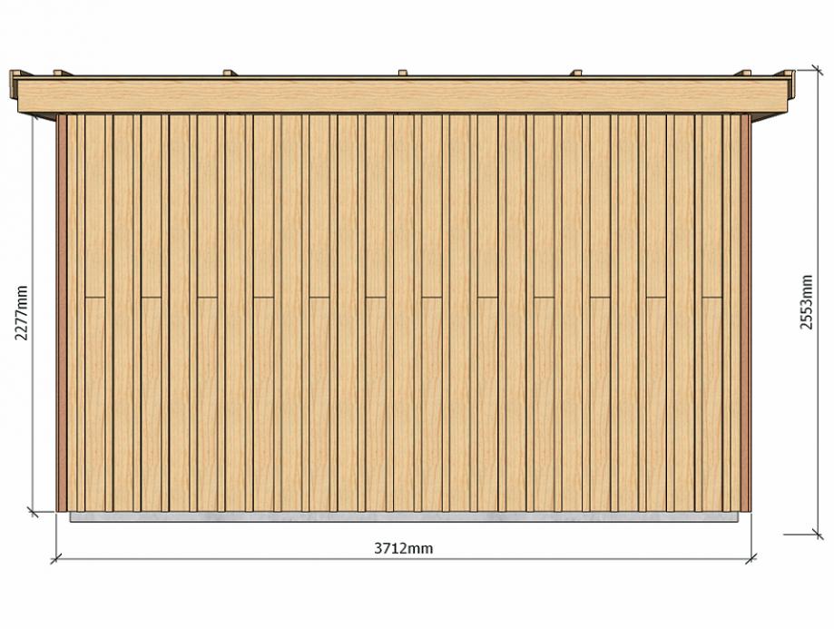 Dimensions abri de jardin à ossature bois 13 m2 pour autoconstructeurs 3