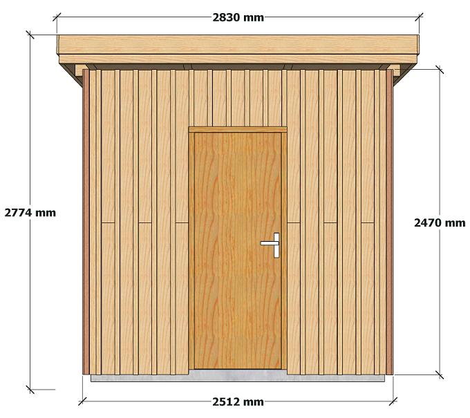 Dimensions abri de jardin à ossature bois 5 m2 pour autoconstructeurs 2