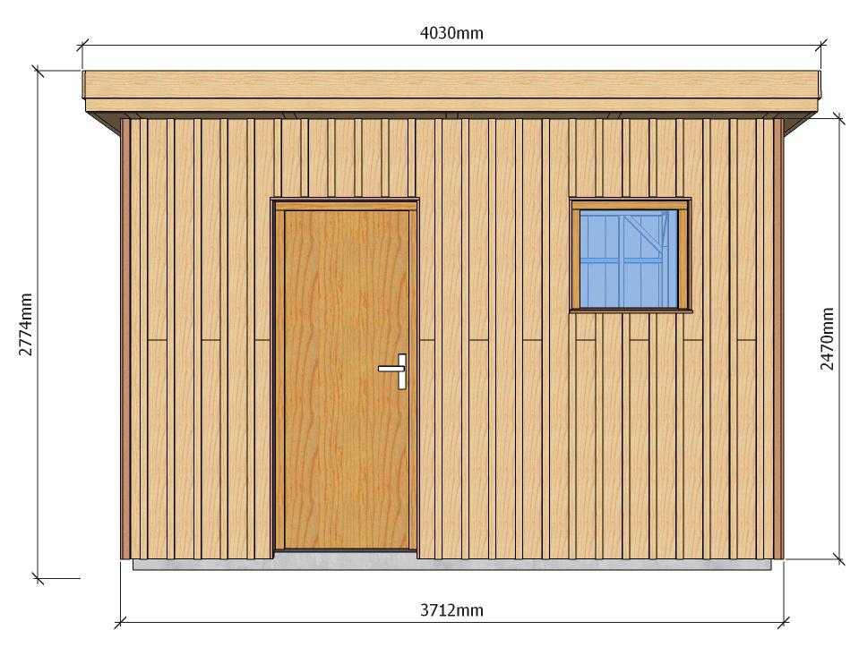 Dimensions abri de jardin à ossature bois 13 m2 pour autoconstructeurs 1