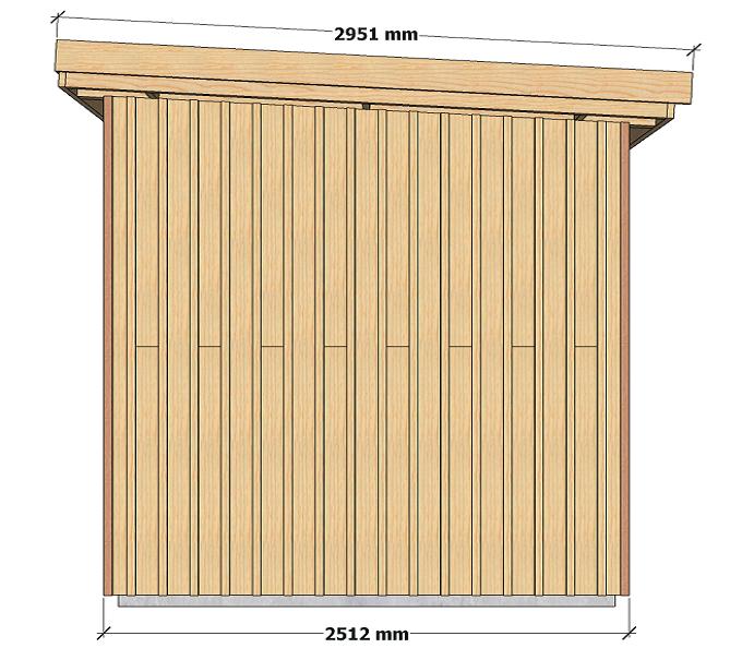 Dimensions abri de jardin à ossature bois 5 m2 pour autoconstructeurs 3