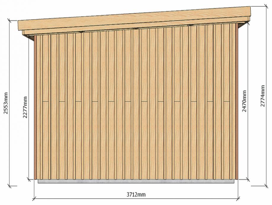 Dimensions abri de jardin à ossature bois 13 m2 pour autoconstructeurs 2