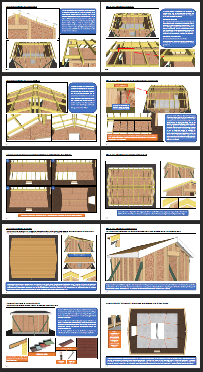 Extrait 2 fabrication abri de jardin ossature bois 15 m2