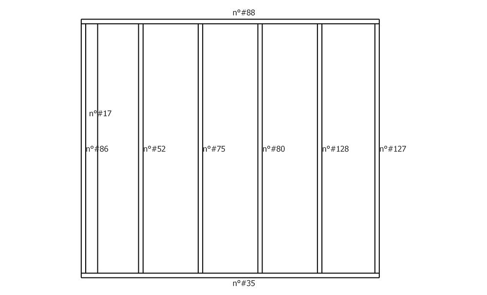 Plan fabrication mur ossature bois numérotation des pièces