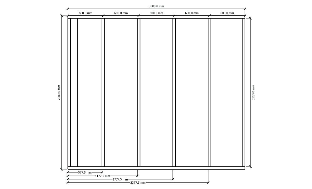 Plan fabrication mur ossature bois cotations