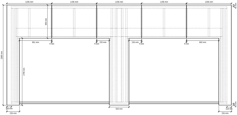 Plan de fabrication contreventement double garage