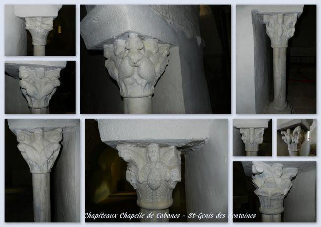 Chapiteaux chapelle Ste-Colombe de Cabanes
