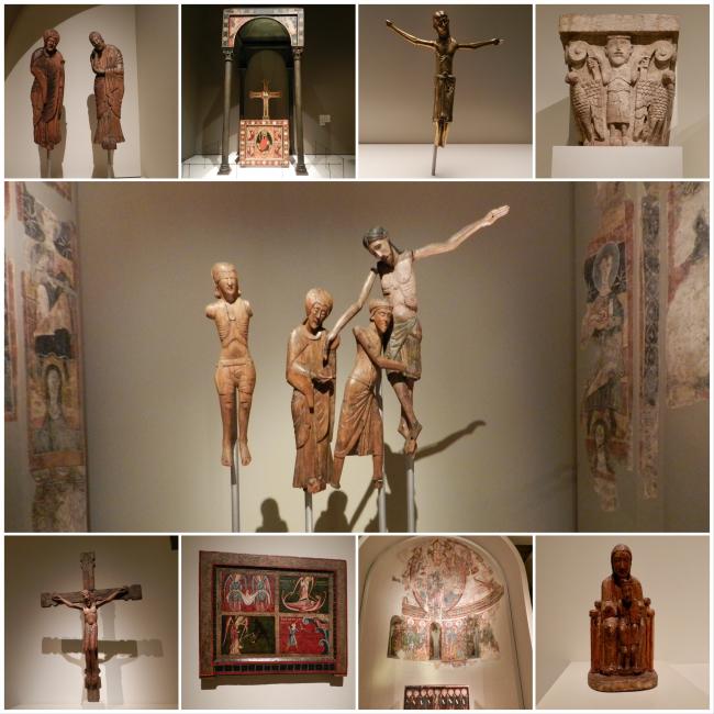 Visite au MNAC à Barcelone -(Musée National d'Art Catalan) Section médiévale