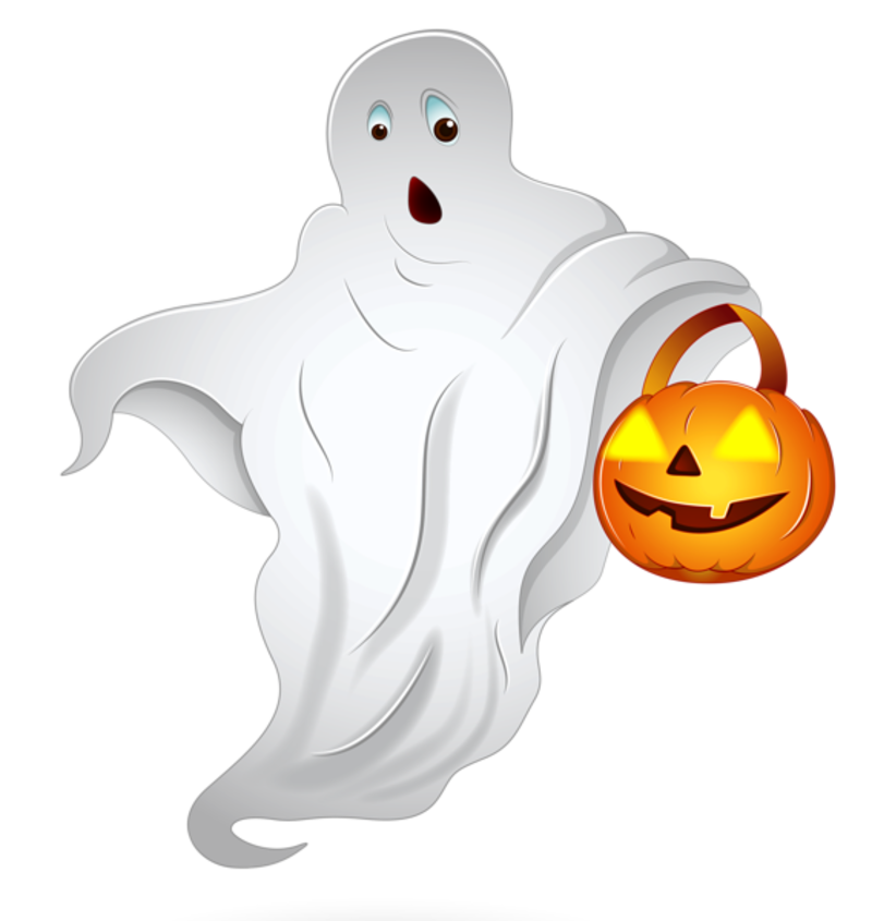 Halloween_Ghost_with_Pumpkin_Basket_PNG_Clipart.png