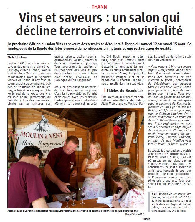 l alsace 06 08 2017 tournée dans le beaujolais vins et saveurs.JPG